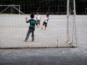男の子はサッカー