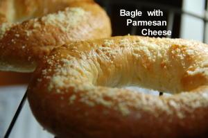 ベーグルwithパルメザンチーズ