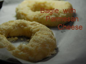 ベーグル with パルメザンチーズ